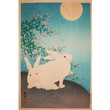 Shoson: Two Rabbits and Full Moon - Ronin Gallery