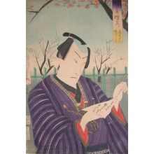 Toyohara Kunichika: Plum Garden at Kameido - Ronin Gallery
