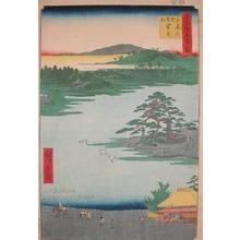 Utagawa Hiroshige: Robe-Hanging Pine at Senzoku Pond - Ronin Gallery