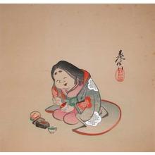Shibata Zeshin: Okame and Rouge - Ronin Gallery