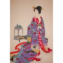 豊原周延: Bijin at Chiyoda Castle - Ronin Gallery