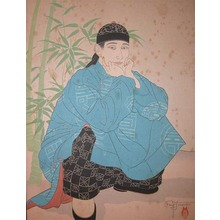 Paul Jacoulet: L'Homme Accroupi. Chinois - Ronin Gallery