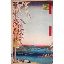 Utagawa Hiroshige: Asakusa River, Great Riverbank, Miyato River - Ronin Gallery