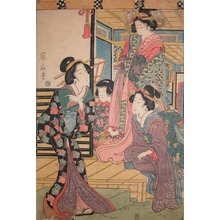 Kikugawa Eizan: Princess and Her Attendants - Ronin Gallery