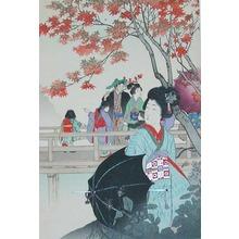 Shuntei: Maple Leaf Viewing - Ronin Gallery