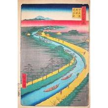 Utagawa Hiroshige: Tow Boats on Yotsugi-Dori Canal - Ronin Gallery