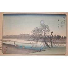 歌川広重: Autumn Moon at Tama River - Ronin Gallery