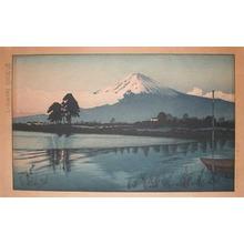 Okuyama: Sunrise at Lake Kawaguchi - Ronin Gallery