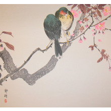 静湖: Two Birds and Cherry Blossoms - Ronin Gallery