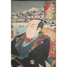 歌川国貞: The Ronin:Yuranosuke at Takanawa - Ronin Gallery