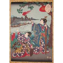 二代歌川国貞: On the River Bank: Matsukaze - Ronin Gallery