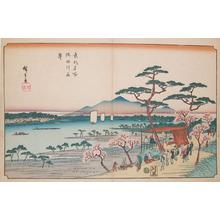 Utagawa Hiroshige: Cherry Blossoms at Sumida River - Ronin Gallery