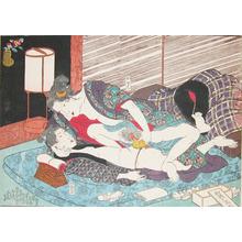 歌川国貞: Two Women: Osen and Chokichi - Ronin Gallery