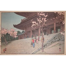 吉田博: Chionin Temple Gate - Ronin Gallery