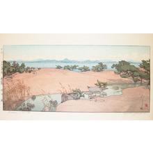 Yoshida Hiroshi: Garden in Winter, Biwa Lake - Ronin Gallery