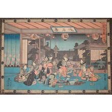 歌川広重: Tea House - Ronin Gallery