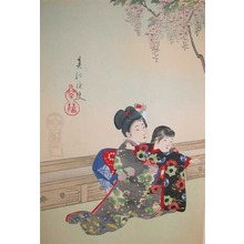 Shuntei: Sisters Under Wisteria Tree - Ronin Gallery