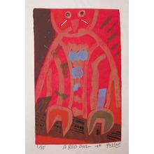 Gashu: A Red Owl - Ronin Gallery
