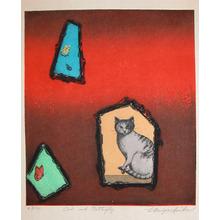 Miyashita: Cat and Butterfly - Ronin Gallery