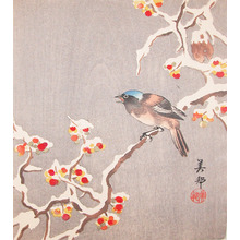 Biho: Bird on a Snowy Branch - Ronin Gallery