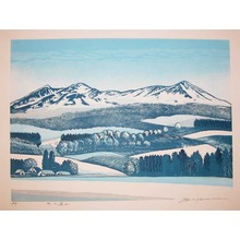 Hagiwara, Tsuneyoshi: Mountain Range in Winter - Ronin Gallery