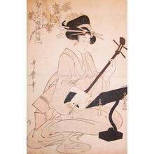 喜多川歌麿: Playing Samisen - Ronin Gallery