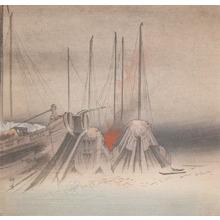 Tsukioka Kogyo: Fishing Boats at Night - Ronin Gallery