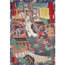 Utagawa Yoshitsuya: Ando Kiemon Slipping into the Enemy's Camp - Ronin Gallery