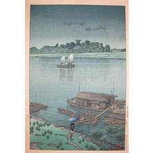 Kawase Hasui: May Rain at Ara River - Ronin Gallery