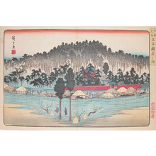 Utagawa Hiroshige: Inari Shrine at Oji - Ronin Gallery