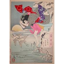 Tsukioka Yoshitoshi: Winter Moon at Asano River - Ronin Gallery