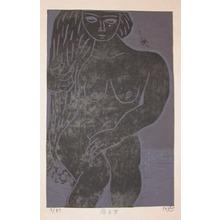 Gashu: Woman Sitting - Ronin Gallery