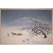 逸見享: Apple Tree in Snow at Towada Park - Ronin Gallery