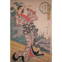 Kikugawa Eizan: Viewing the Autumn Moon - Ronin Gallery