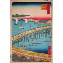 歌川広重: Ruogoku Bridge and Okawabata - Ronin Gallery