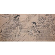 Hishikawa Moronobu: Mother and Son - Ronin Gallery