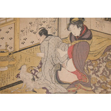 Kitagawa Utamaro: Distracted by a Cat - Ronin Gallery