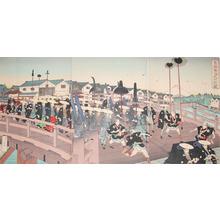 安達吟光: Entering Edo - Ronin Gallery