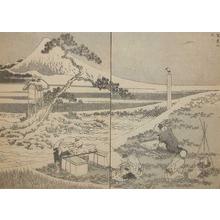 葛飾北斎: Drawing Fuji from Life - Ronin Gallery