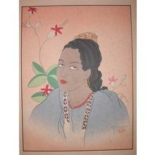 Paul Jacoulet: Une Jeune Fille De Fidji, Oceanie - Ronin Gallery