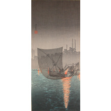 渡辺省亭: Night Fishing at Tsukuda - Ronin Gallery