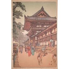 吉田博: Daibutsu Temple Gate - Ronin Gallery