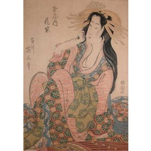 Kikugawa Eizan: Courtesan Hanamurasaki from the House of Tamaya - Ronin Gallery