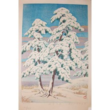 川瀬巴水: Pine Trees after Snow - Ronin Gallery