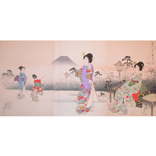 豊原周延: Garden Viewing - Ronin Gallery