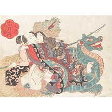 Keisai Eisen: September: Passion at the Dragon Palace - Ronin Gallery