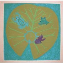Gashu: On a Leaf of a Waterlily - Ronin Gallery