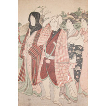 Utagawa Toyokuni I: Strolling with Courtesans - Ronin Gallery