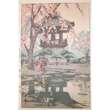 Yoshida Hiroshi: In a Temple Yard - Ronin Gallery