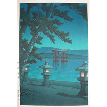 川瀬巴水: Moonlight at Miyajima - Ronin Gallery